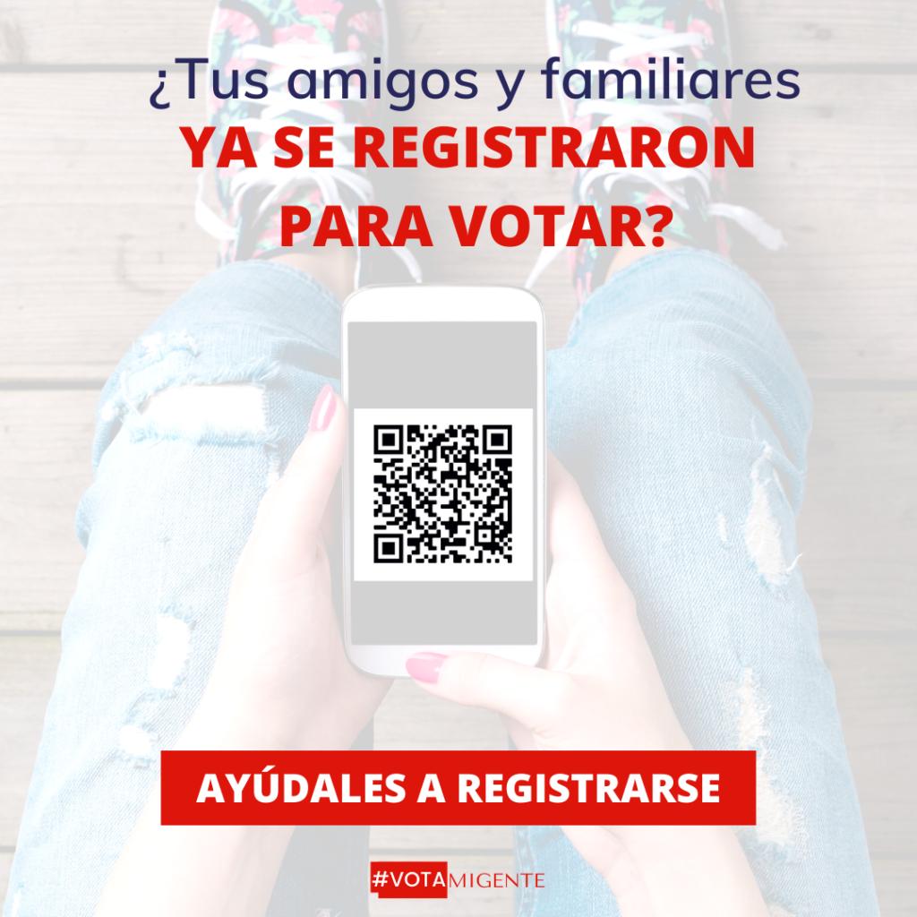 yaa se registraron para votar